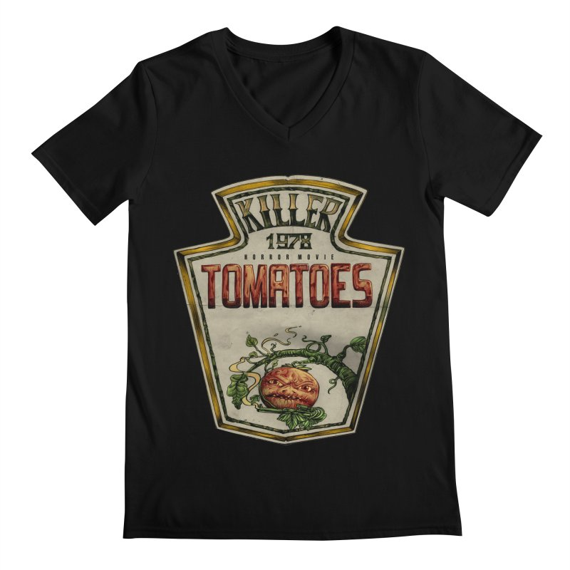KILLER TOMATOES  Men's Regular V-Neck by T.JEF