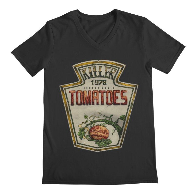 KILLER TOMATOES  Men's V-Neck by T.JEF