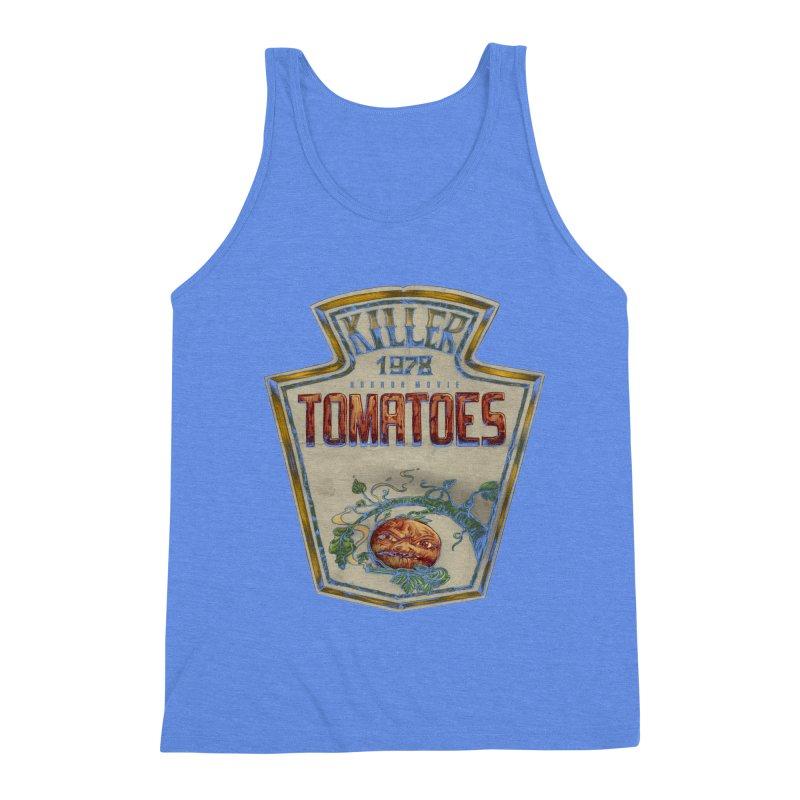 KILLER TOMATOES  Men's Triblend Tank by T.JEF