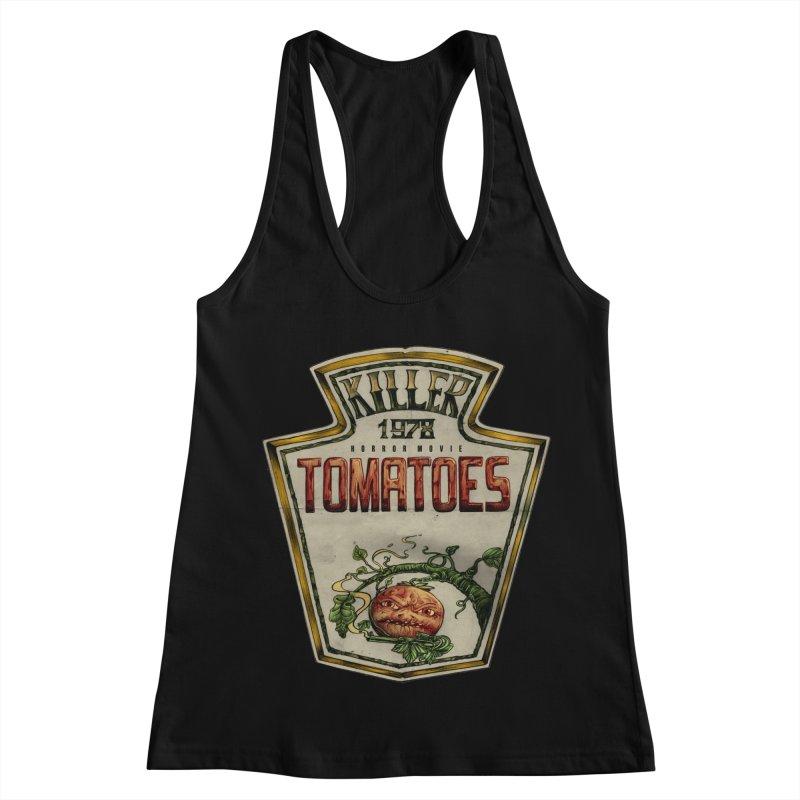 KILLER TOMATOES  Women's Racerback Tank by T.JEF