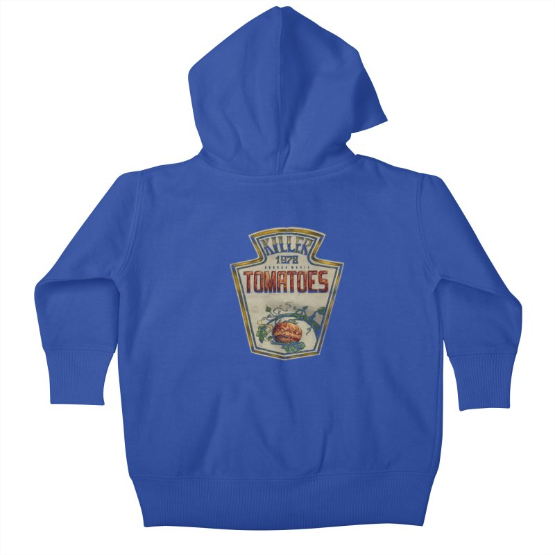 KILLER TOMATOES  Kids Baby Zip-Up Hoody by T.JEF