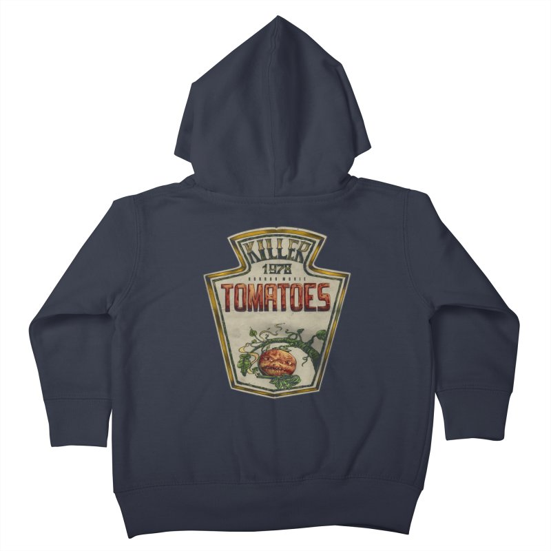 KILLER TOMATOES  Kids Toddler Zip-Up Hoody by T.JEF