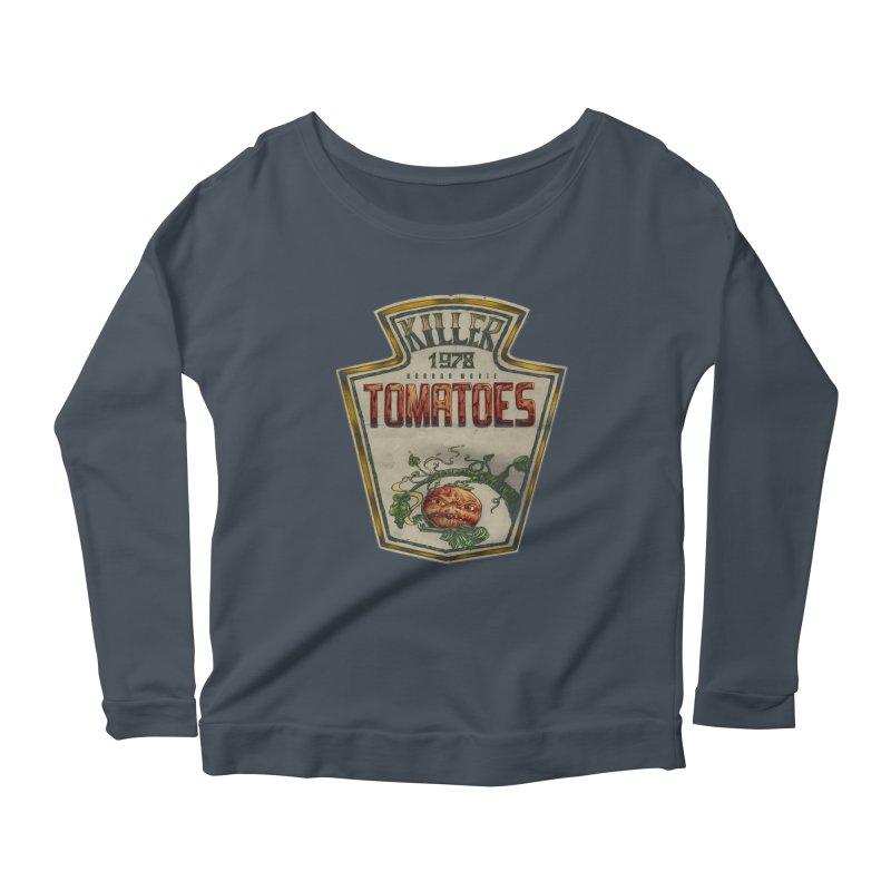 KILLER TOMATOES  Women's Scoop Neck Longsleeve T-Shirt by T.JEF