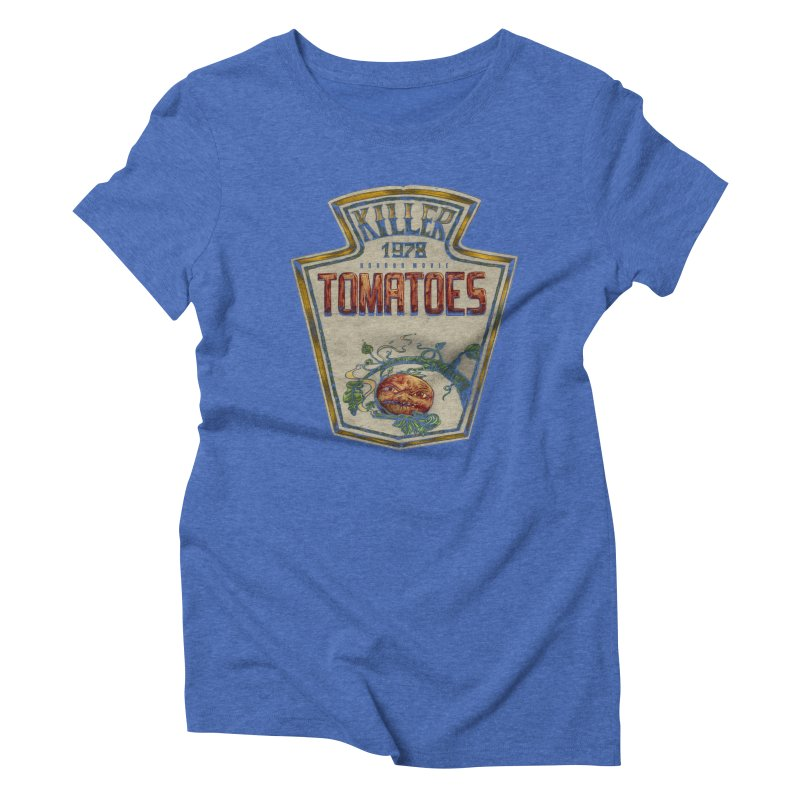KILLER TOMATOES  Women's Triblend T-shirt by T.JEF