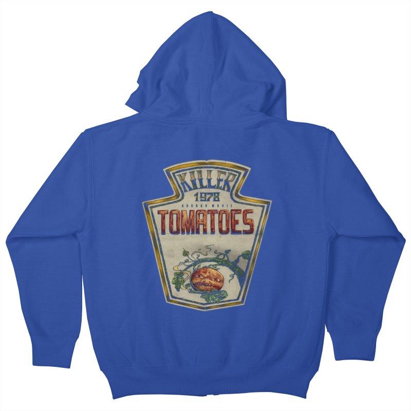 KILLER TOMATOES  Kids Zip-Up Hoody by T.JEF