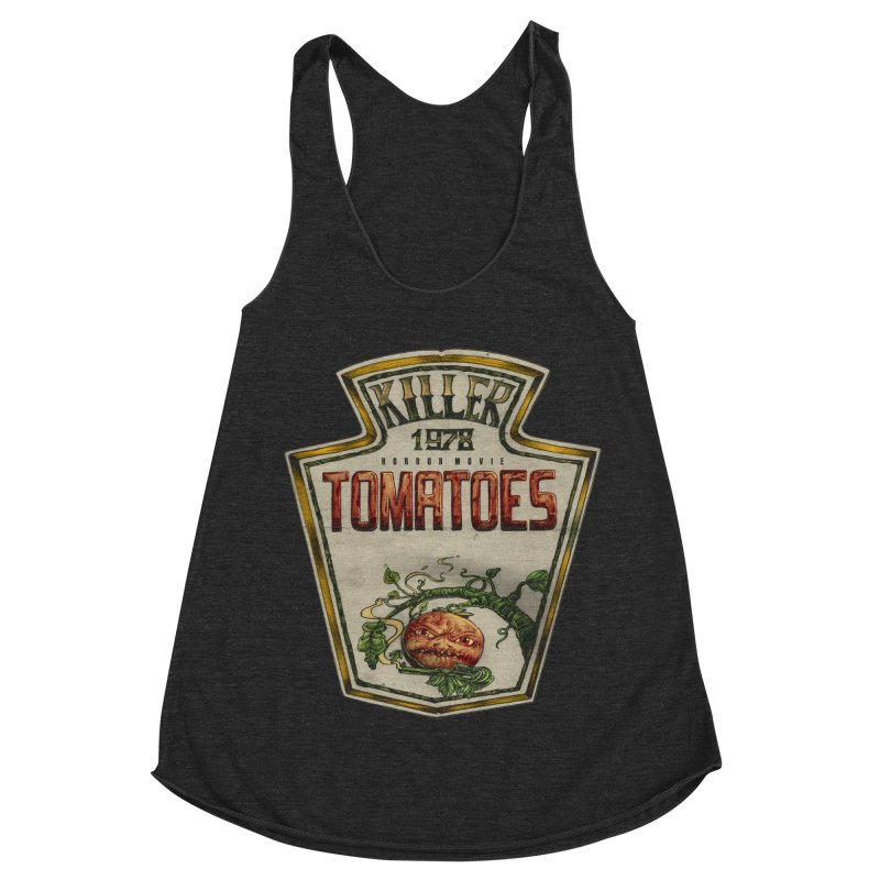 KILLER TOMATOES  Women's Racerback Triblend Tank by T.JEF