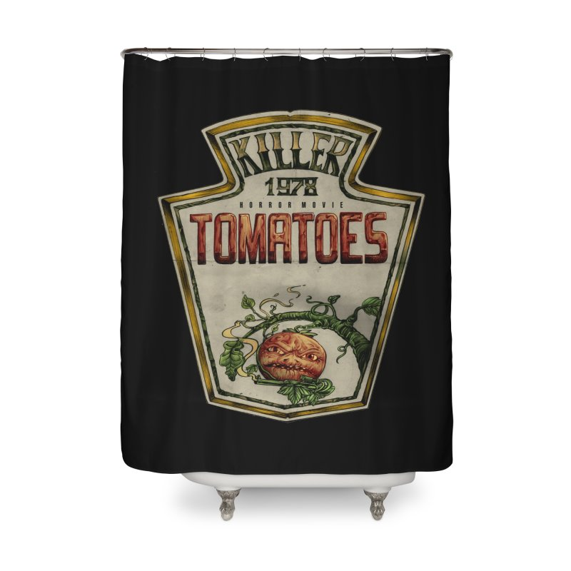 KILLER TOMATOES  Home Shower Curtain by T.JEF