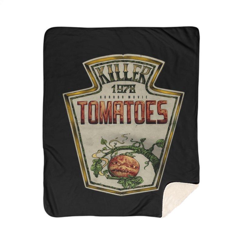 KILLER TOMATOES  Home Blanket by T.JEF