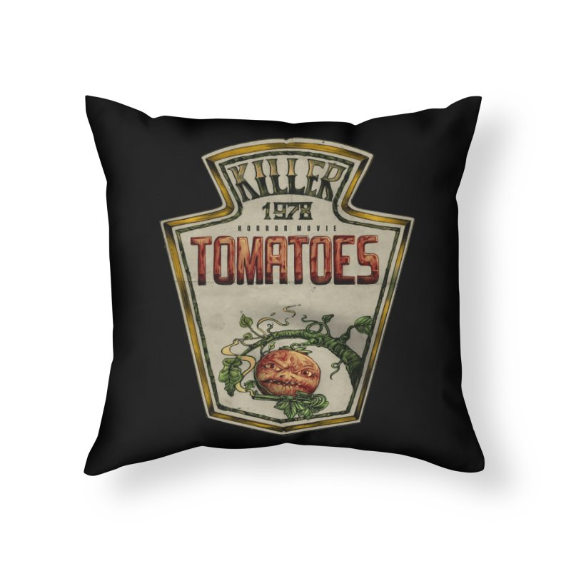 KILLER TOMATOES  Home Throw Pillow by T.JEF