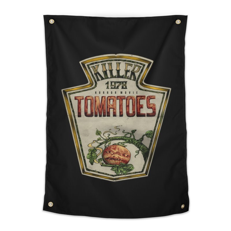 KILLER TOMATOES  Home Tapestry by T.JEF