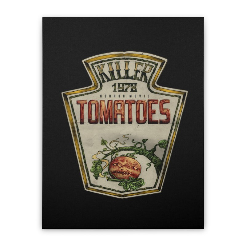 KILLER TOMATOES  Home Stretched Canvas by T.JEF