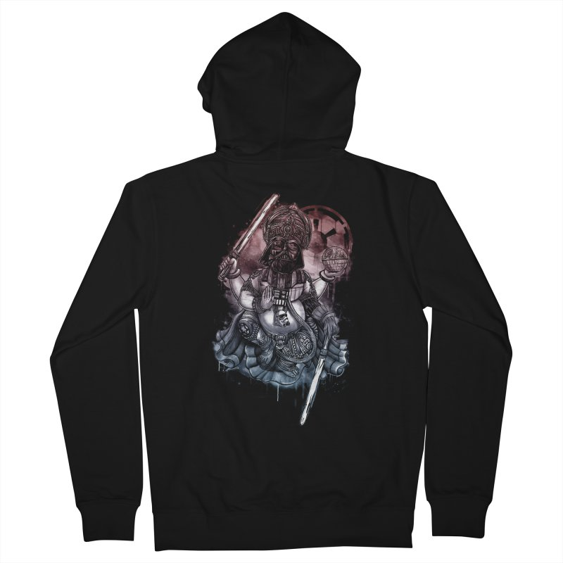 VADER/GANESHA  Men's French Terry Zip-Up Hoody by T.JEF