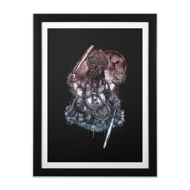 VADER/GANESHA  Home Framed Fine Art Print by T.JEF