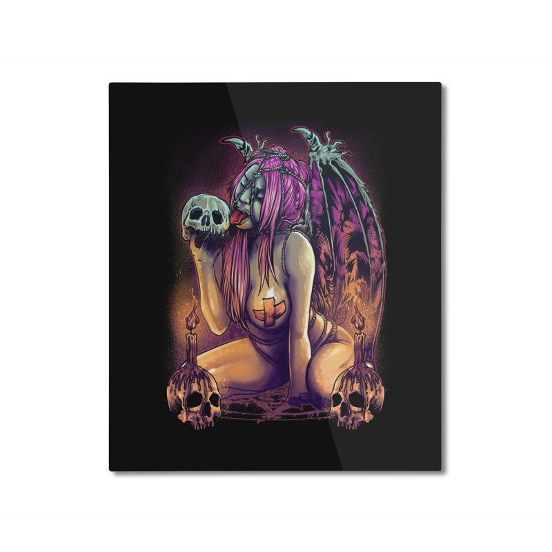 HELLLOVE Home Mounted Aluminum Print by T.JEF
