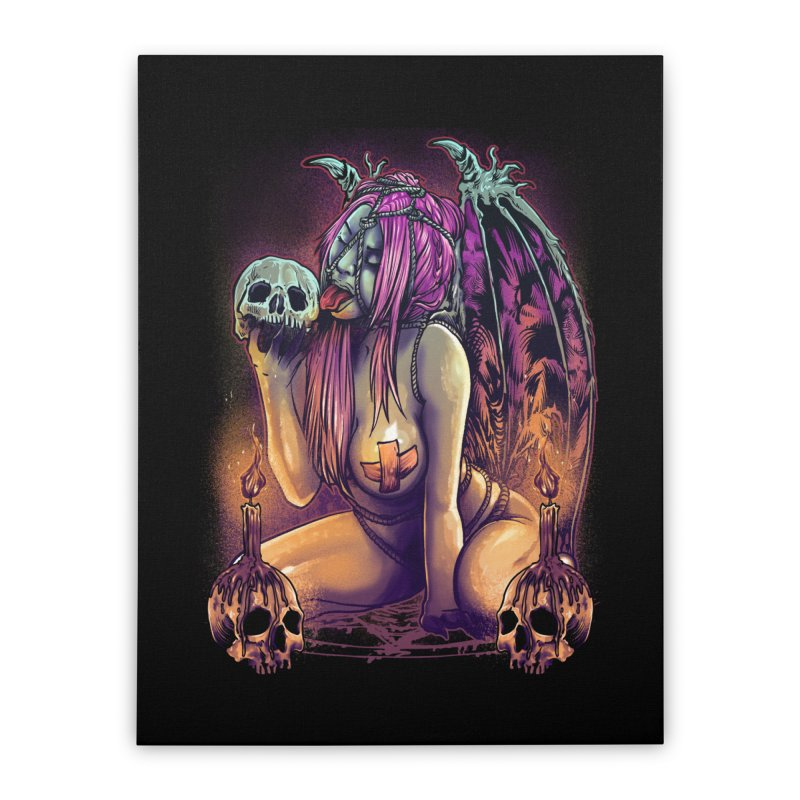 HELLLOVE Home Stretched Canvas by T.JEF
