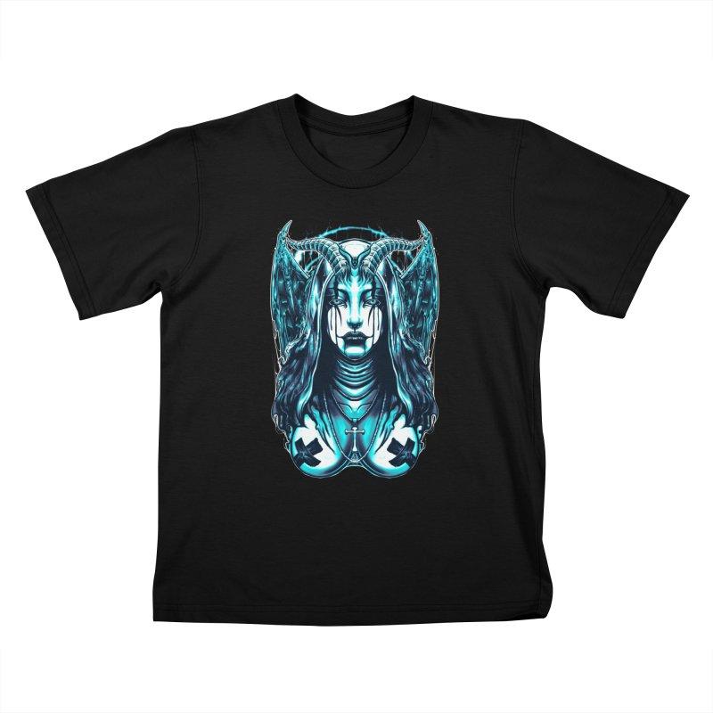 DARK NUN Kids T-Shirt by T.JEF