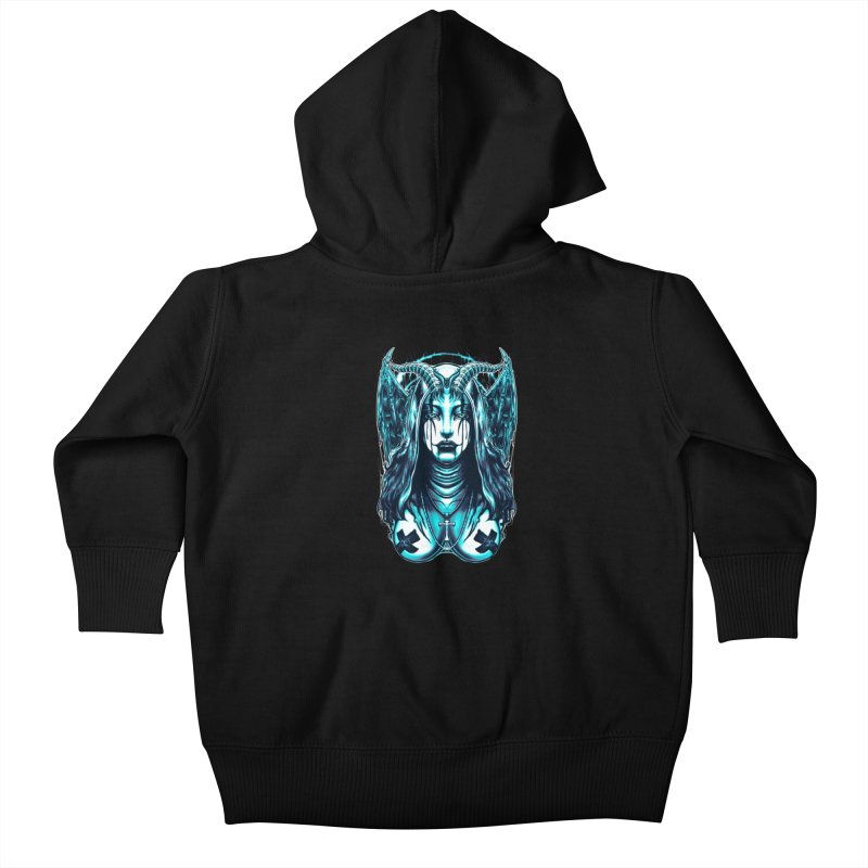 DARK NUN Kids Baby Zip-Up Hoody by T.JEF