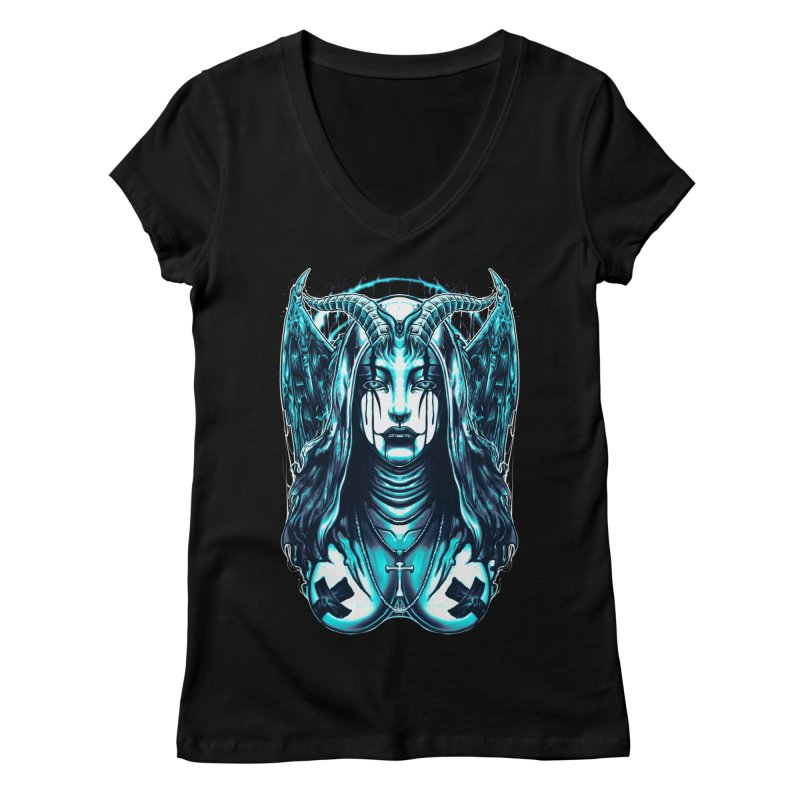 DARK NUN Women's V-Neck by T.JEF
