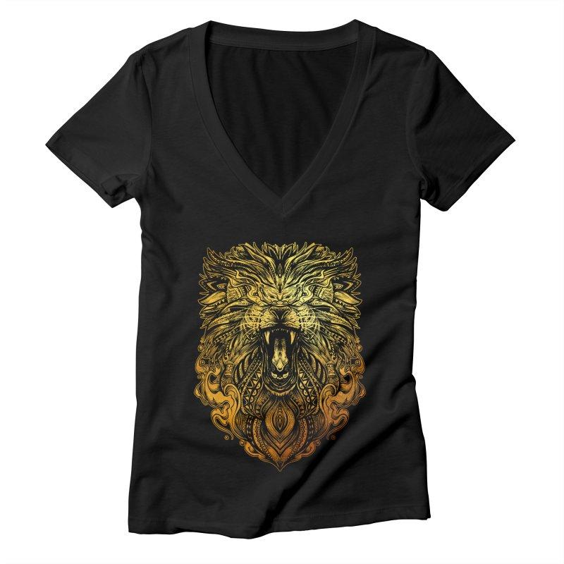 KING LION Women's V-Neck by T.JEF