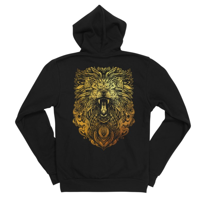 KING LION Men's Zip-Up Hoody by T.JEF