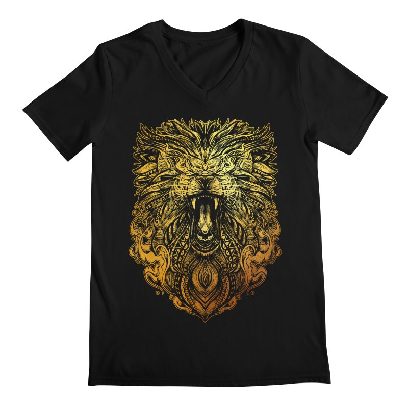 KING LION Men's V-Neck by T.JEF