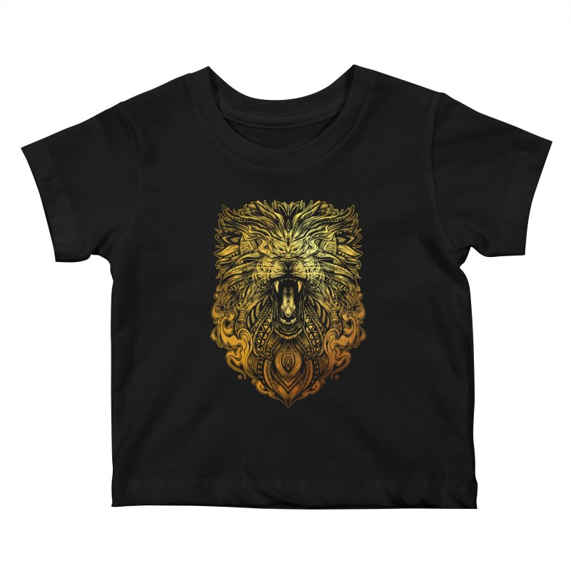 KING LION Kids Baby T-Shirt by T.JEF