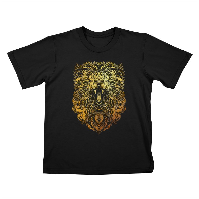 KING LION Kids T-Shirt by T.JEF