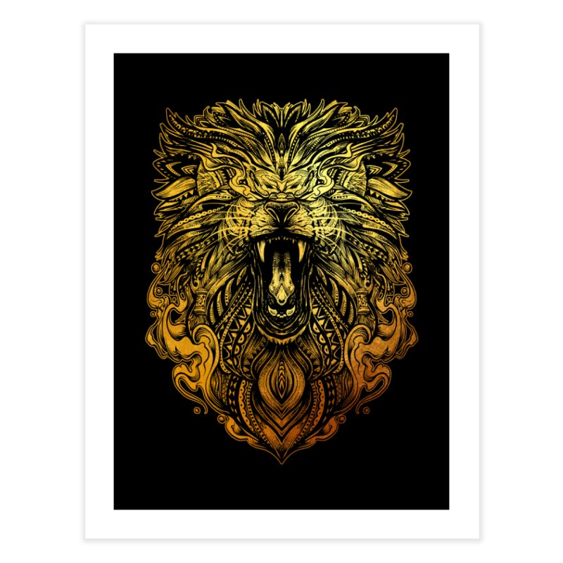 KING LION Home Fine Art Print by T.JEF