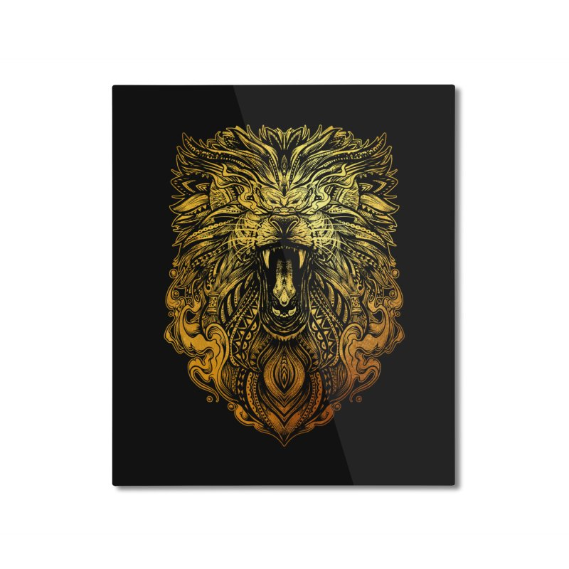 KING LION Home Mounted Aluminum Print by T.JEF