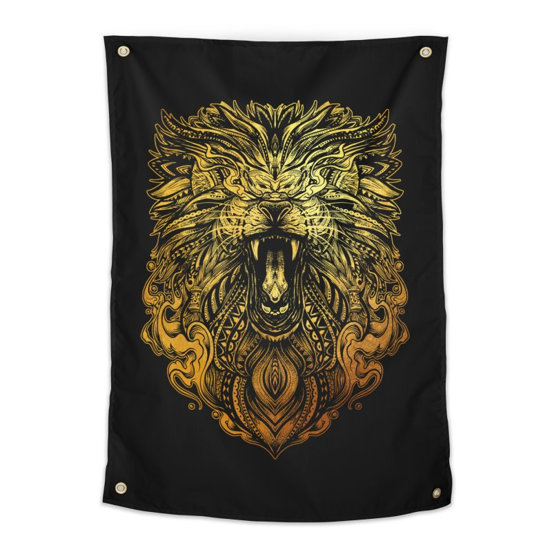 KING LION Home Tapestry by T.JEF