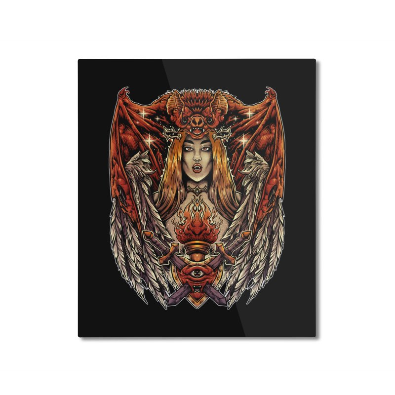 Queen bat Home Mounted Aluminum Print by T.JEF