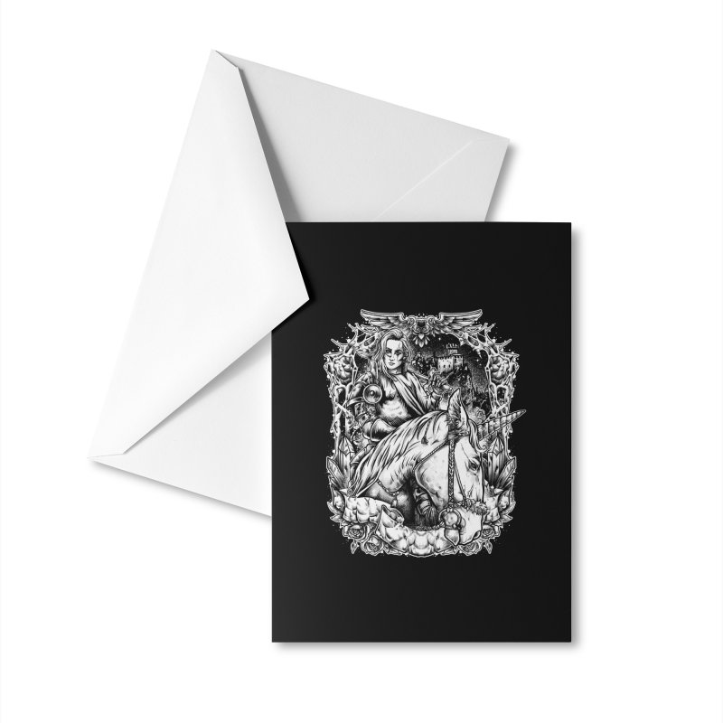 Queen Unicorns Accessories Greeting Card by T.JEF