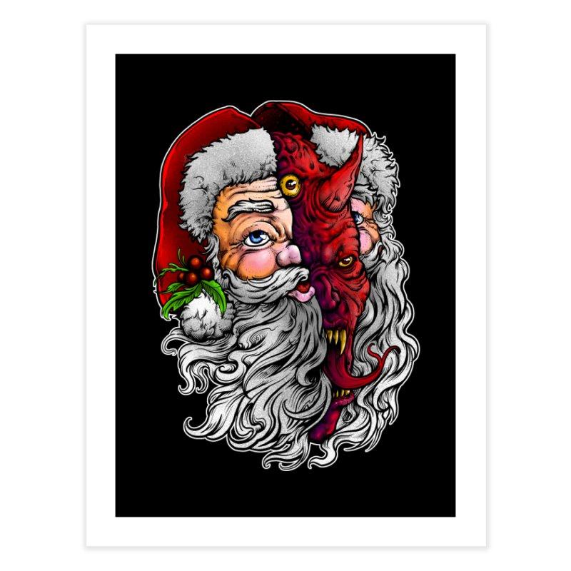Satan Claus Home Fine Art Print by T.JEF