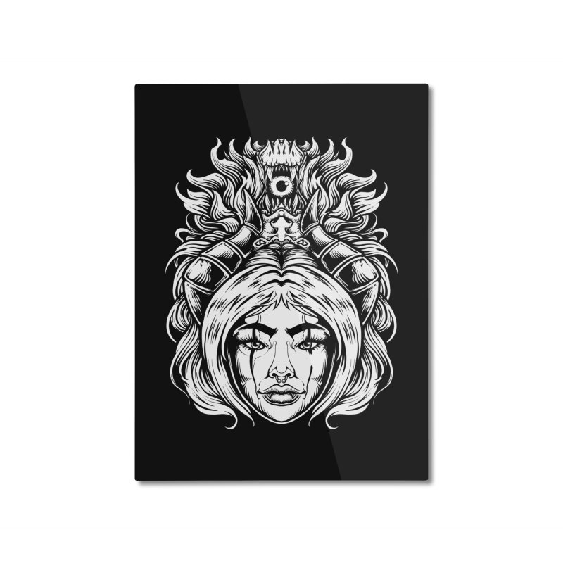 STORM DEMON Home Mounted Aluminum Print by T.JEF
