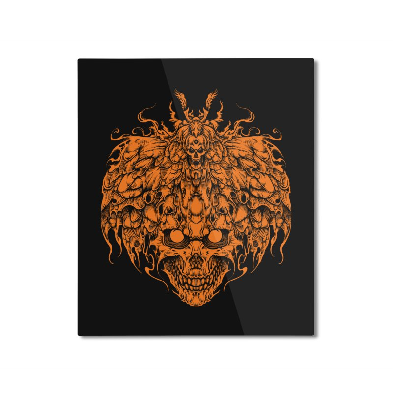 skull tattoo Home Mounted Aluminum Print by T.JEF