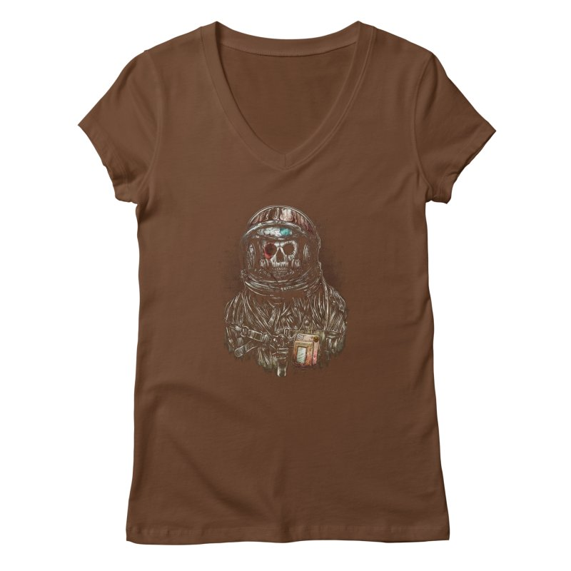 SPACE SONGS Women's V-Neck by T.JEF