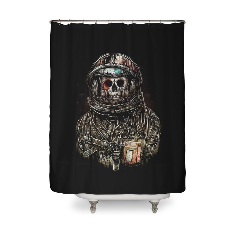 SPACE SONGS Home Shower Curtain by T.JEF