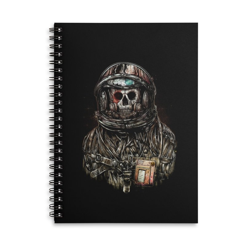 SPACE SONGS Accessories Lined Spiral Notebook by T.JEF