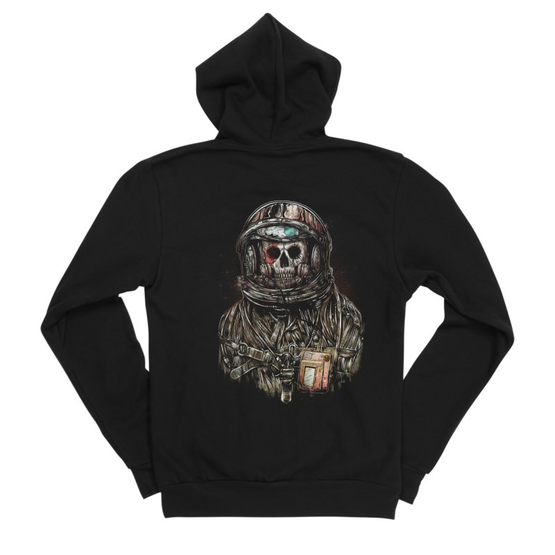 SPACE SONGS Men's Sponge Fleece Zip-Up Hoody by T.JEF