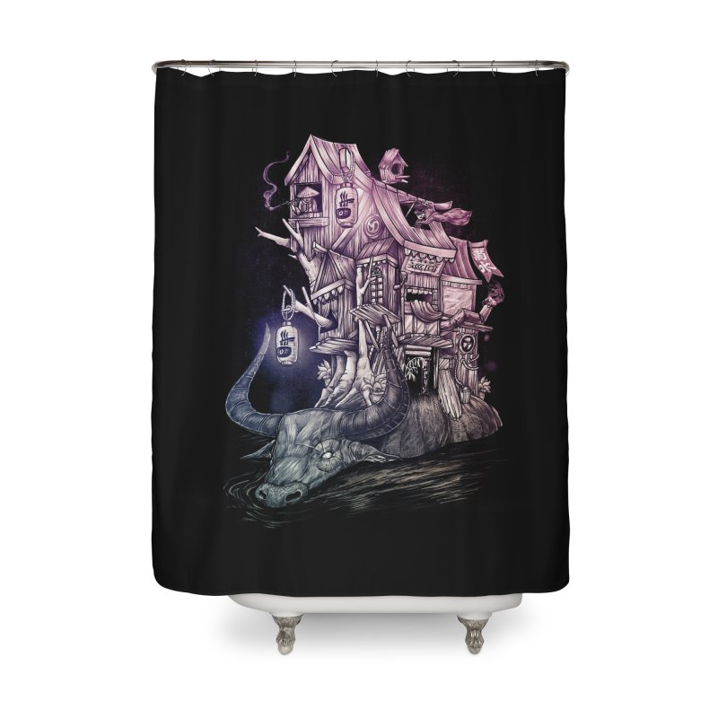 ITNERANT Home Shower Curtain by T.JEF