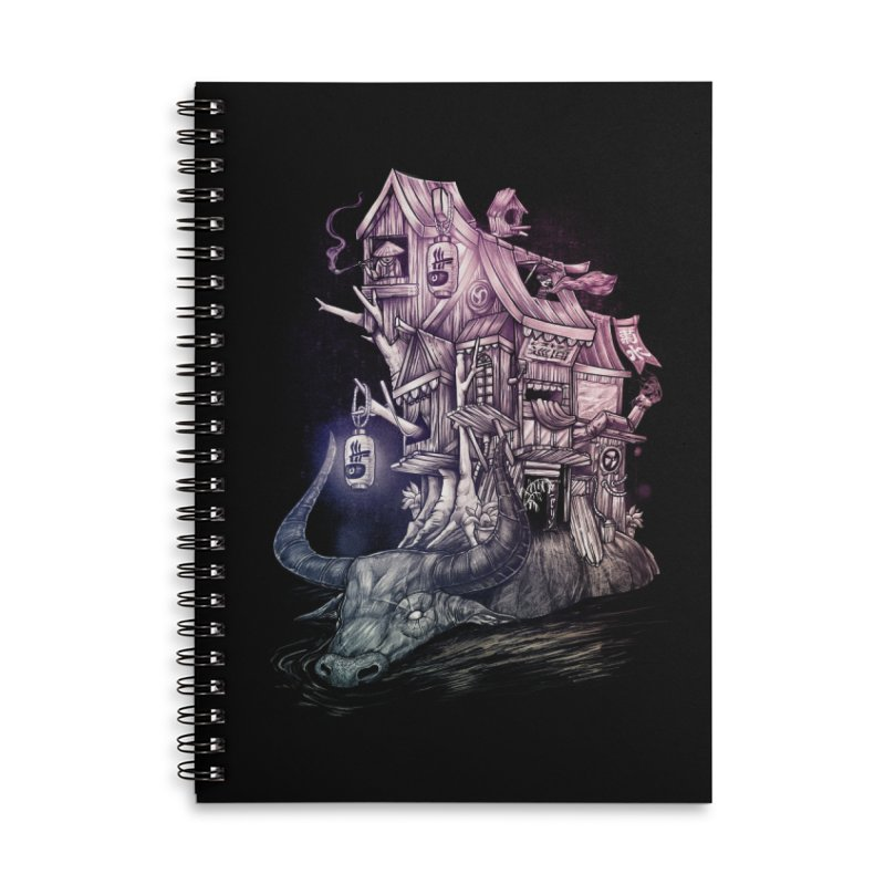 ITNERANT Accessories Lined Spiral Notebook by T.JEF