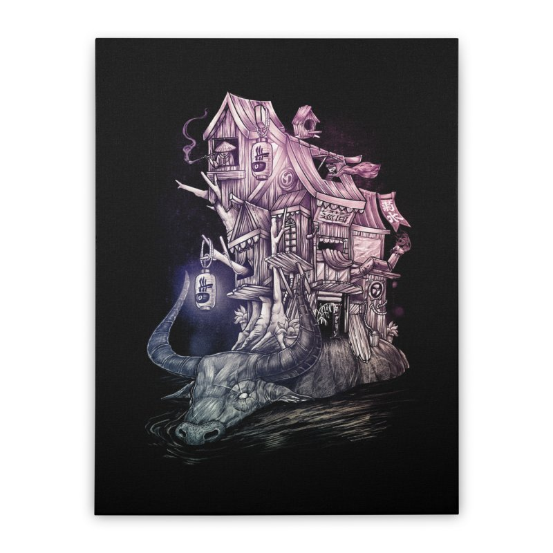 ITNERANT Home Stretched Canvas by T.JEF
