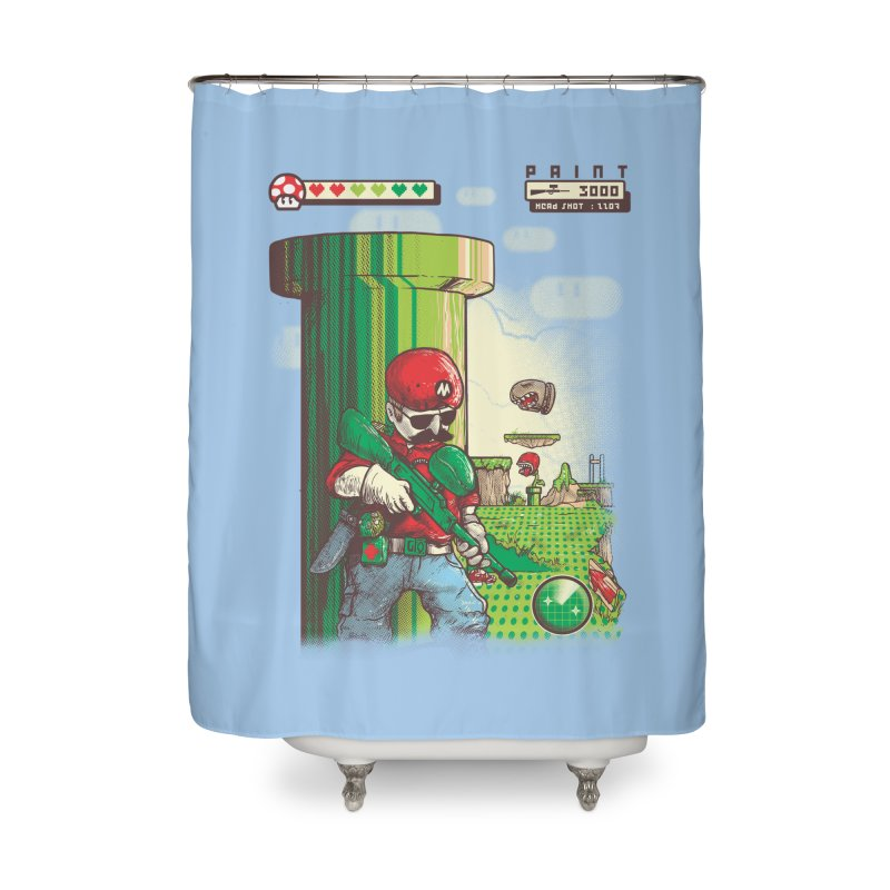 In mission Home Shower Curtain by T.JEF