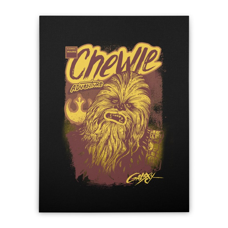 CHEWIE Home Stretched Canvas by T.JEF