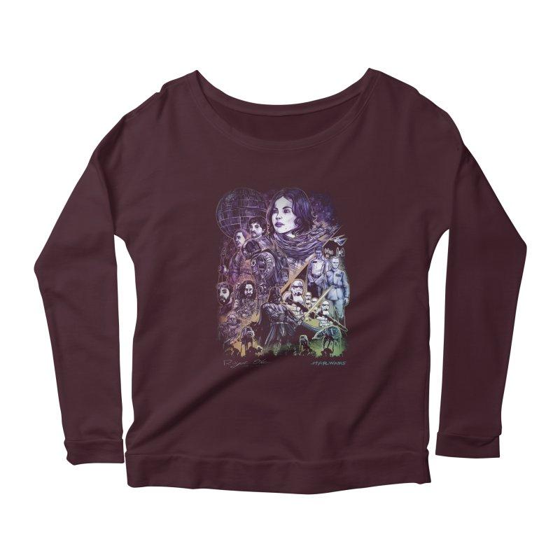 Rogue One Women's Scoop Neck Longsleeve T-Shirt by T.JEF