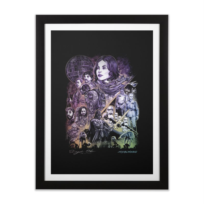 Rogue One Home Framed Fine Art Print by T.JEF