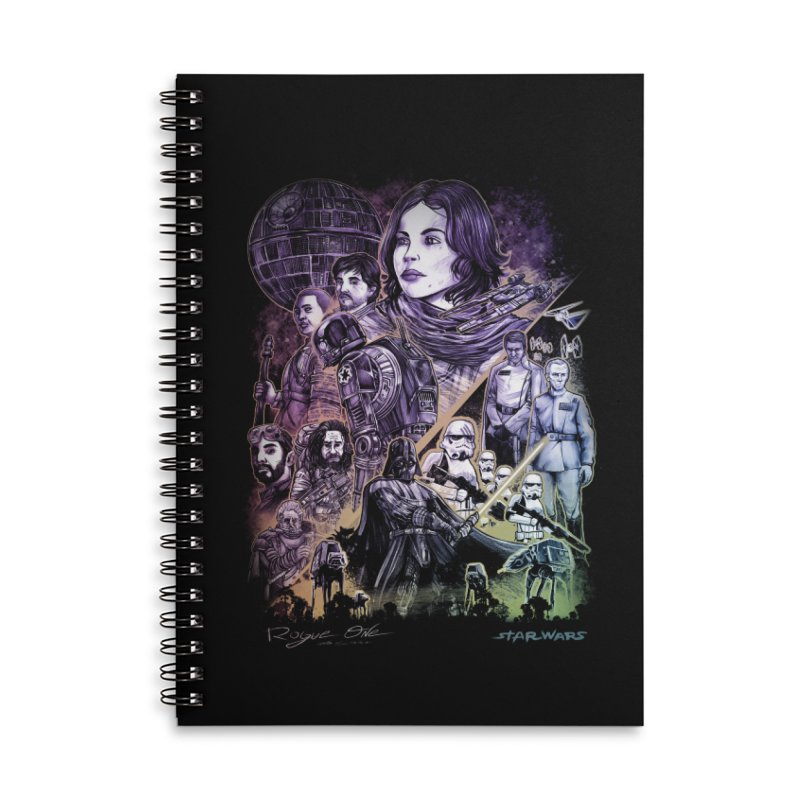 Rogue One Accessories Lined Spiral Notebook by T.JEF