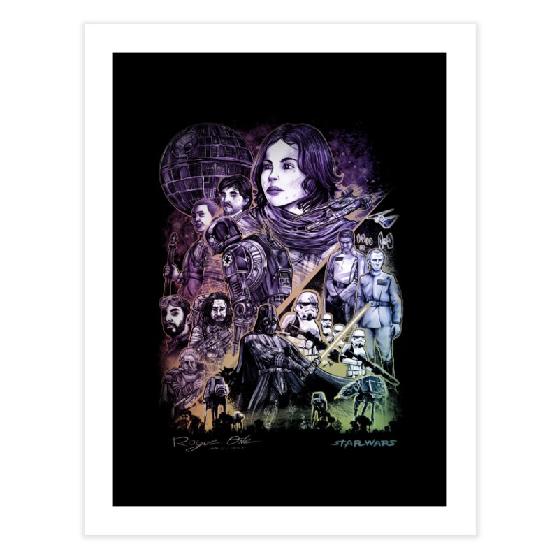 Rogue One Home Fine Art Print by T.JEF