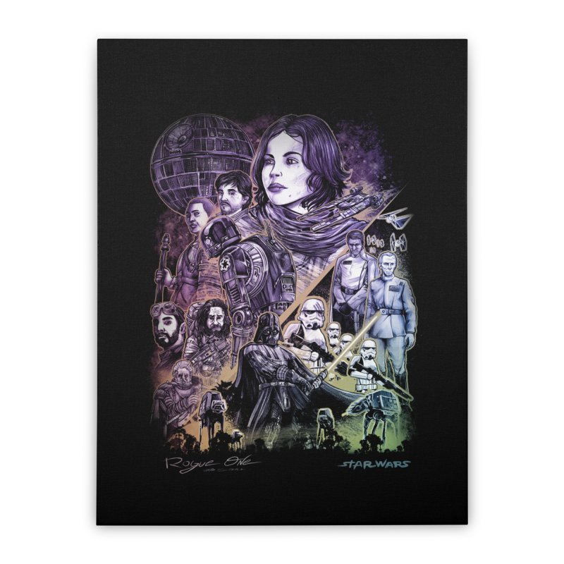 Rogue One Home Stretched Canvas by T.JEF