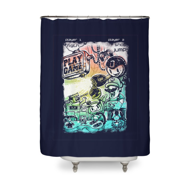 GAMEANDO Home Shower Curtain by T.JEF